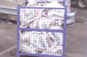 cages from recycling plant